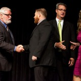 AIA Arkansas President, Wesley Walls, AIA  and members of the State Board congratulate each recipient