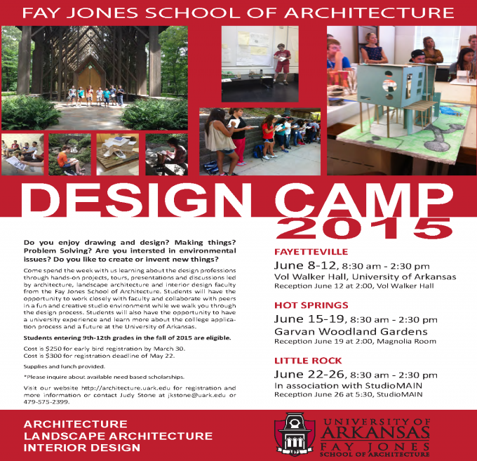 Fay Jones School of Architecture Design Camp 2015