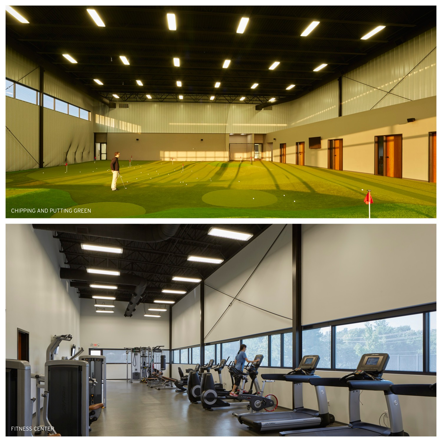 Blessings golf club indoor practice facility design for Indoor facility design
