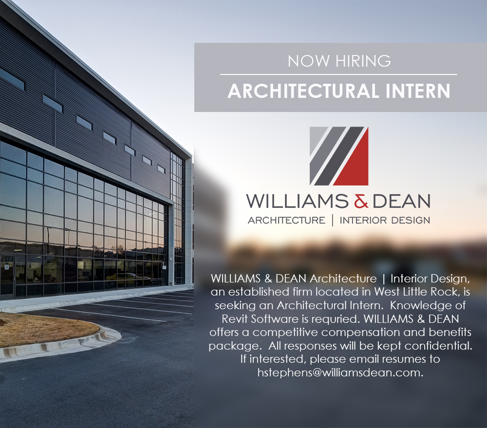 Williams & Dean Architecture | Interior Design is seeking an Architectural Intern